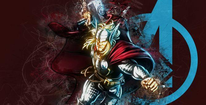 Thor, God of Thunder, marvel comics wallpaper