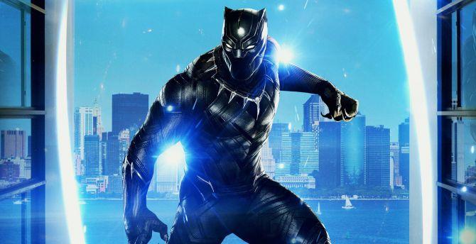 Desktop Wallpaper Black Panther Movie Art Hd Image Picture Background Aa2305