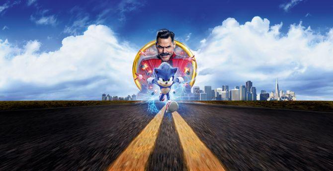 sonic the hedgehog movie wallpaper hd