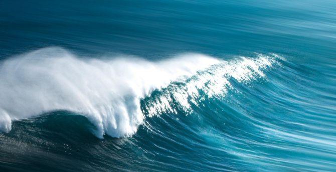 Blue, tide, sea waves, body of water wallpaper