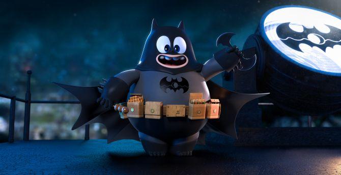 Fat Batman Superhero Funny Art Wallpaper