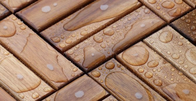 Water on wooden surface, texture wallpaper