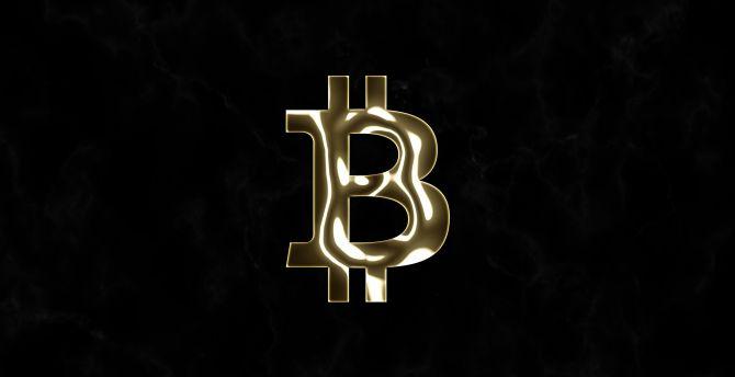 Logo, bitcoin, abstract wallpaper
