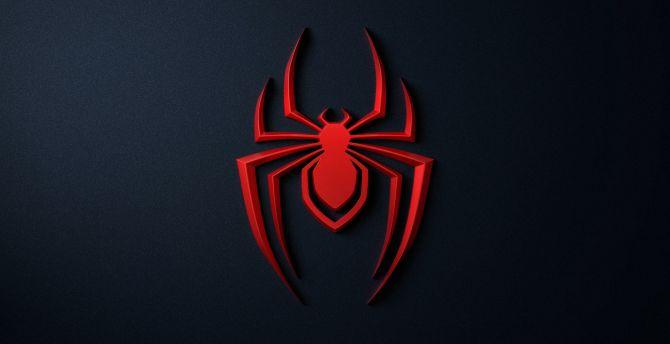 Desktop Wallpaper Spider Logo Spider Man Playstation 5 Hd Image Picture Background B36c41