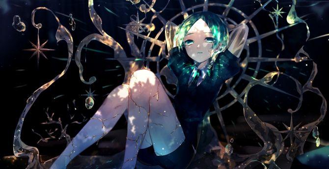 Houseki No Kuni Wallpaper: Desktop Wallpaper Anime Girl, Phosphophyllite, Houseki No