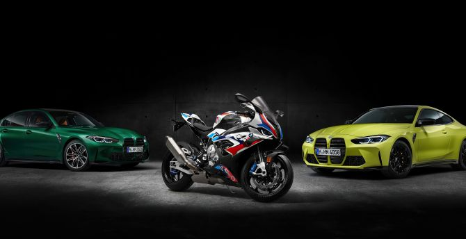 Desktop Wallpaper Bmw Squad Bike And Cars Hd Image Picture Background B5f0b3