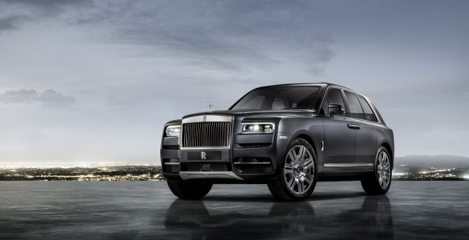 Rolls-Royce Cullinan, gray luxury car wallpaper