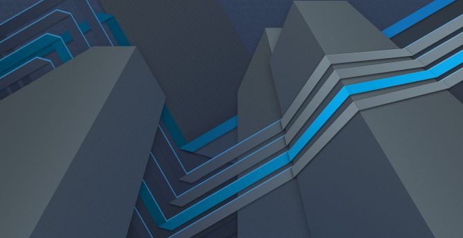 Material design, skyscrapers, shapes, stripes, dark wallpaper