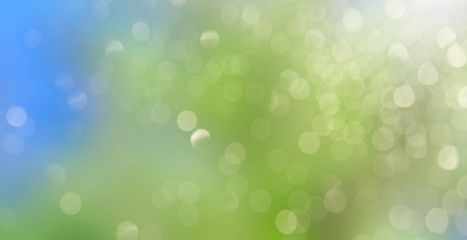 Desktop Wallpaper Abstract Gradient Bokeh Green Yellow