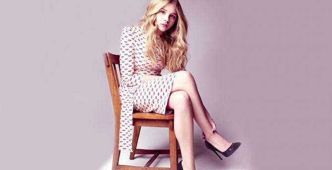 Chloe Grace Moretz, sit, celebrity wallpaper