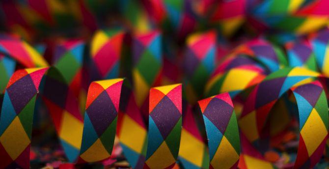 desktop wallpaper colorful paper ribbons carnival hd image