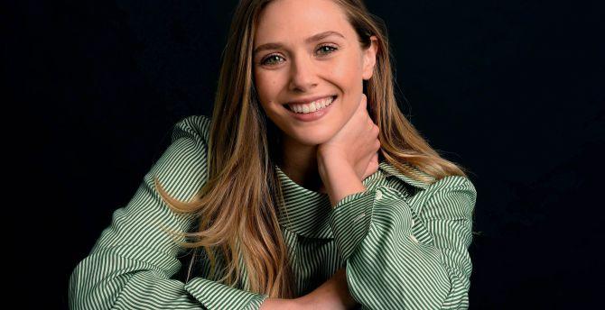 Elizabeth Olsen, beautiful smile, actress wallpaper