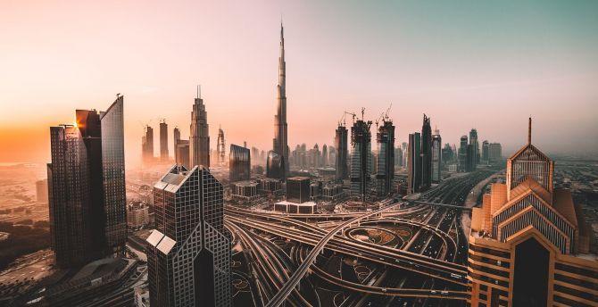 Dubai, skyline, cityscape, skyscrapers, buildings, Burj Khalifa, city wallpaper