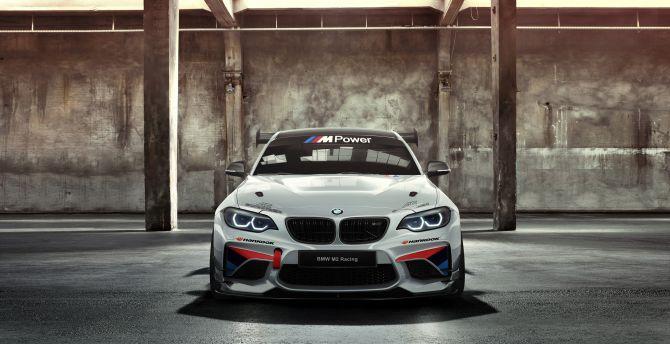 BMW M235i Racing Cup, AC Schnitzer, Racing car, front wallpaper
