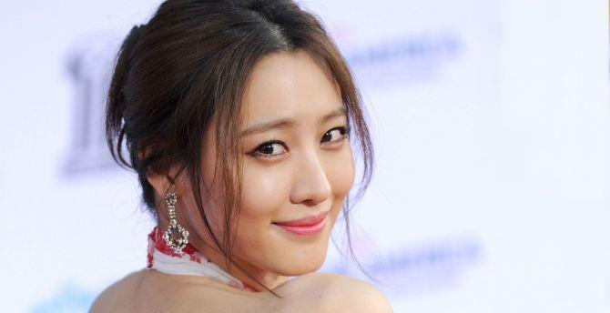 Smile, actress, pretty, Claudia Kim wallpaper