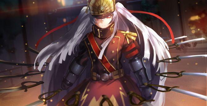 Desktop Wallpaper Altair, Re:creators, Anime Girl, Army