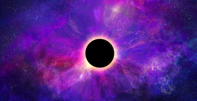 Desktop Wallpaper Space Colorful Dark Black Hole Planet Hd Image Picture Background Bd36e4