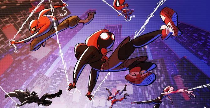 Desktop Wallpaper All Superheroes Movie Artwork Spider Man