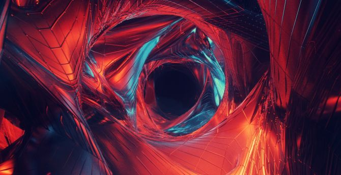 Wormhole, digital art, abstract wallpaper