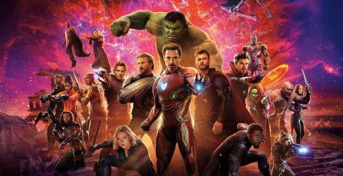 Avengers: infinity war, movie, poster, international wallpaper