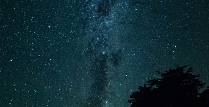Tent, outdoor, starry night, milky way wallpaper