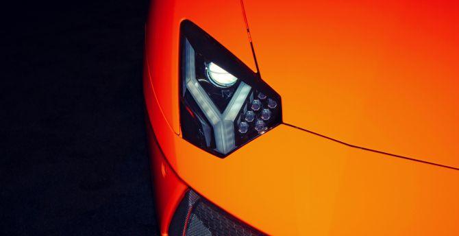 Desktop Wallpaper Exotic Car Lamborghini Headlight Hd