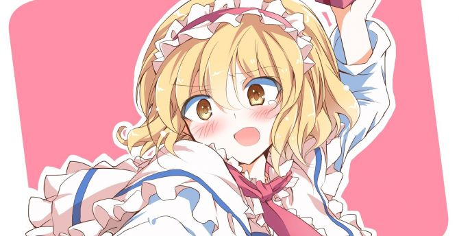 Anime Girl Alice Margatroid Touhou Cute Valentine Gift Wallpaper