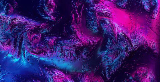 Desktop Wallpaper Neon Texture Abstract Dark Art Hd