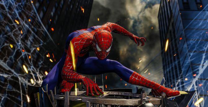 Desktop Wallpaper Video Game Spider Man Ps4 Hd Image Picture