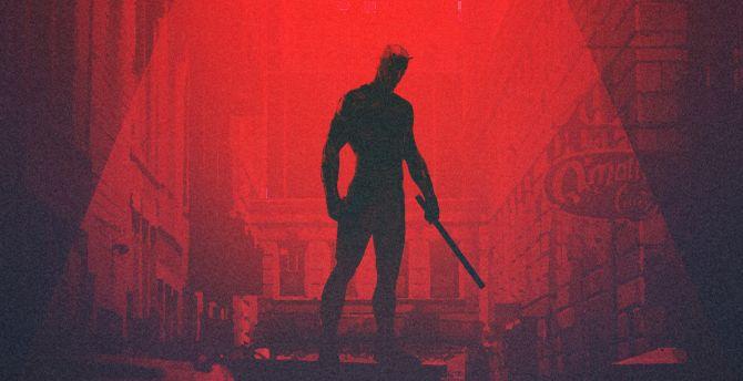 Daredevil, superhero, minimalism, artwork wallpaper