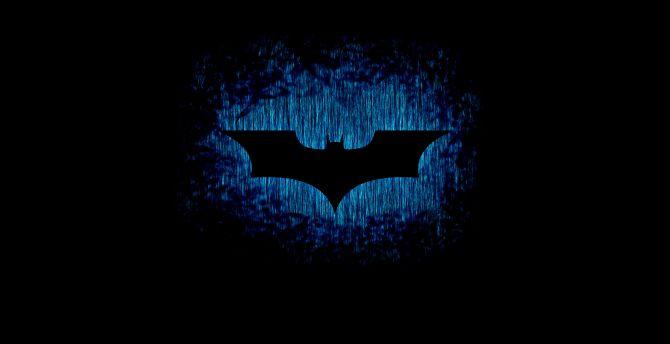 Batman sign logo dark 4k