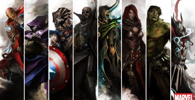 The avengers, fan artwork wallpaper