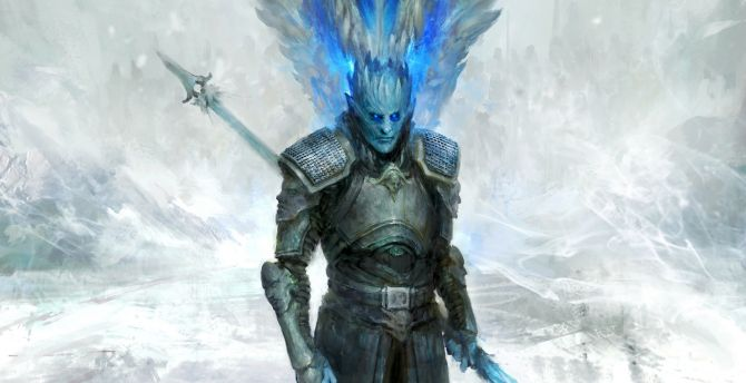 Desktop Wallpaper White Walker Knight King Dragon Game Of
