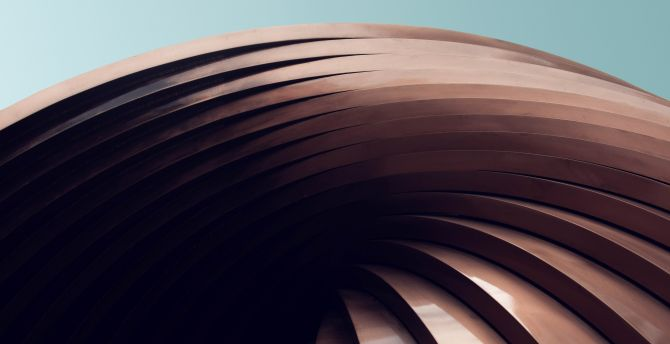 Modern architecture, building, spiral wallpaper