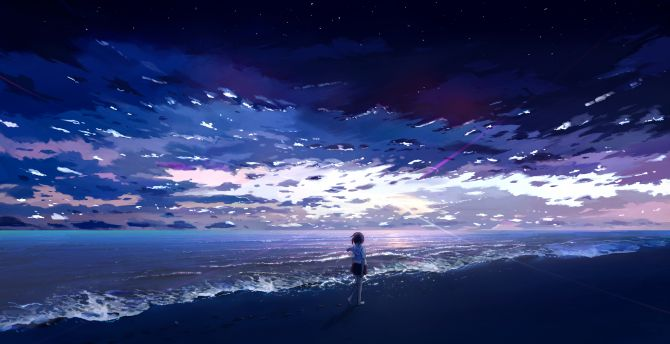 Desktop Wallpaper Anime Girl Seashore Beach Art Hd Image Picture Background Cbd89d Choose from hundreds of free anime backgrounds. desktop wallpaper anime girl seashore