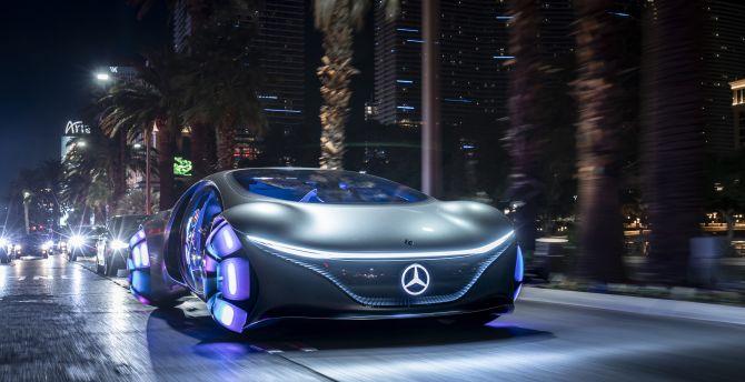 Desktop wallpaper concept car, mercedes-benz vision avtr ...