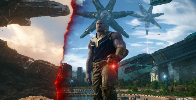 Thanos in titan, movie, Avengers: infinity war wallpaper