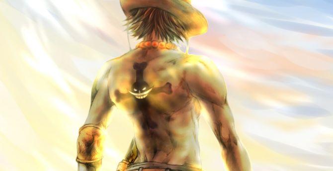 Anime, One Piece, artwork, Portgas D. Ace, pirate wallpaper