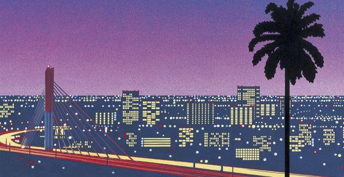 Desktop Wallpaper Bridge Cityscape Pixel Art Hd Image Picture Background D0155e