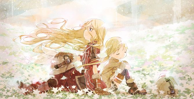Lyza and riko, made in abyss, anime girls wallpaper