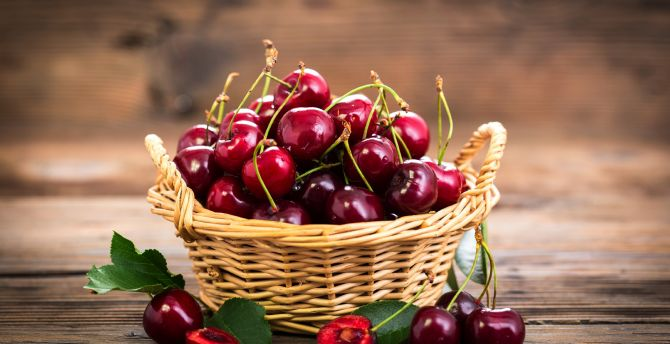 cherry fruits basket
