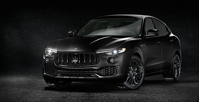 Desktop wallpaper black front sport utility vehicles maserati levante hd image picture - Maserati levante wallpaper ...