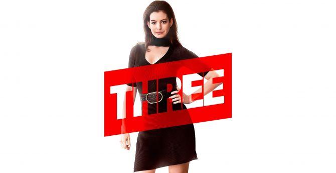 Anne Hathaway, Three, Ocean's 8, 2018 movie wallpaper