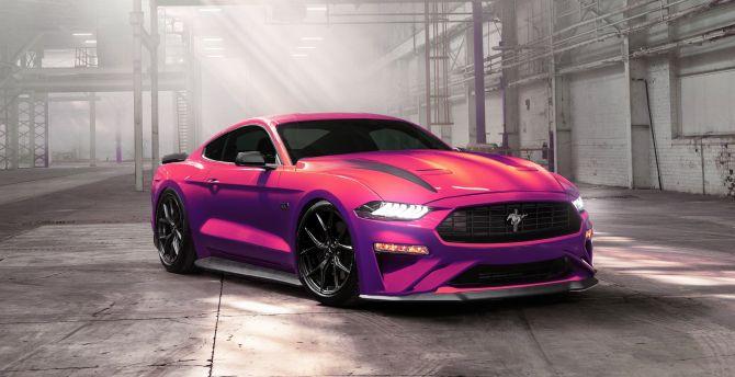 Desktop wallpaper ford mustang ecoboost, muscle car, 2019 ...