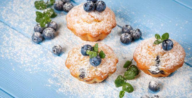 Pastry, food, dessert, blueberry wallpaper