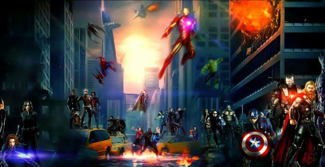 Desktop Wallpaper Avengers And Agents Of Shield Marvel Fan Art Hd