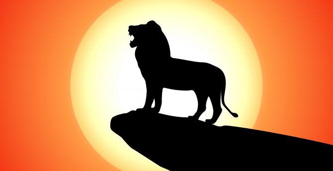 Desktop Wallpaper The Lion King Animation Movie Silhouette Hd