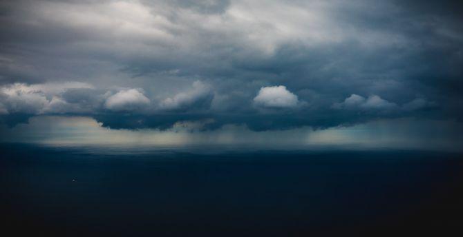 Desktop Wallpaper Storm Clouds Blue Dark Sky Hd Image Picture