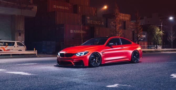 Desktop Wallpaper Red Luxury Car Bmw M3 Hd Image Picture