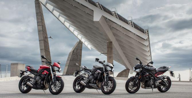Desktop Wallpaper Motorcycles, Bike Triumph Street Triple